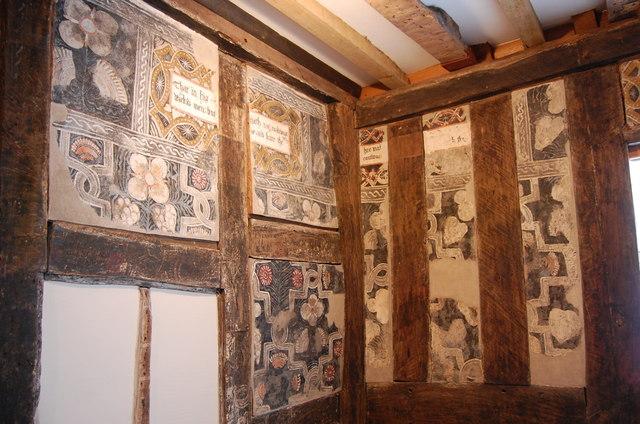 16th Century Painted Room, No1 Church Lane, Ledbury