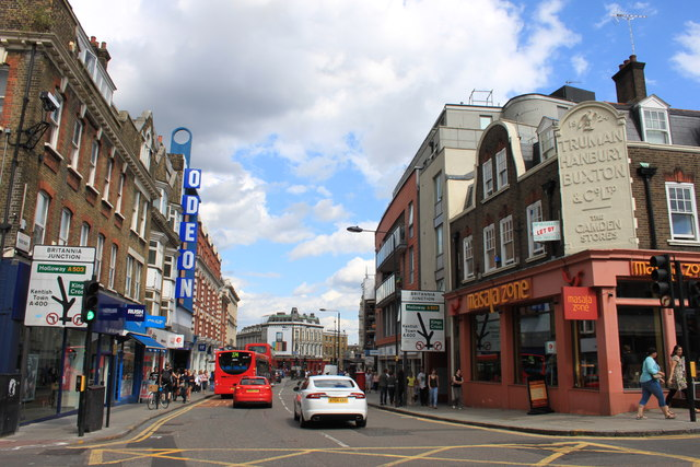 Approaching the Britannia junction and Camden High Street