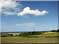 TG0642 : Harvested fields east of The Hangs, Cley by Evelyn Simak
