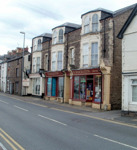 Brecon Road shops, Abergavenny