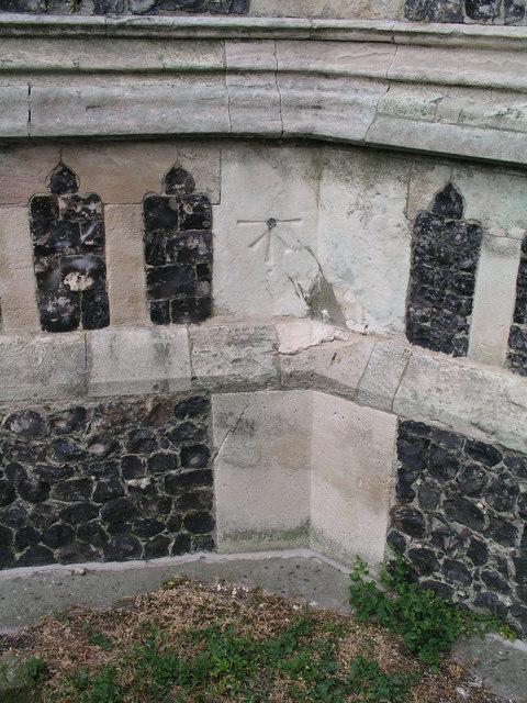 1GL cut mark and bolt on Southwold, St. Edmund's Church