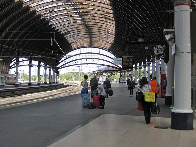 Under the canopy, York Station
