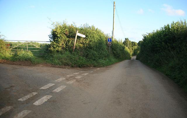 Poldrissick Lane this way to the Church