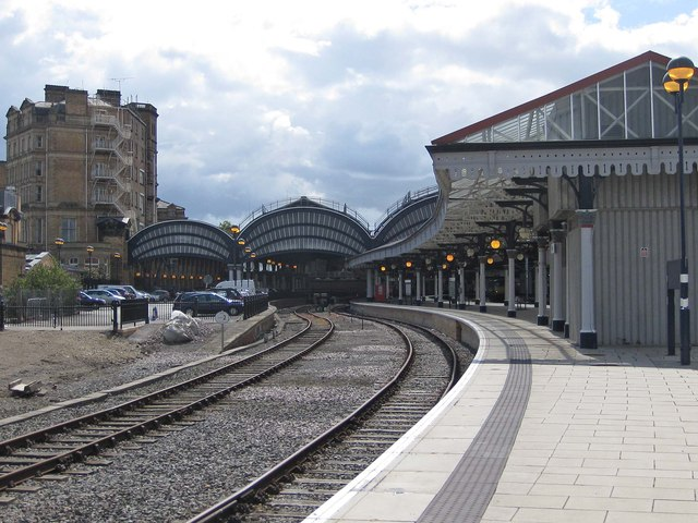 Rain clouds over York Station