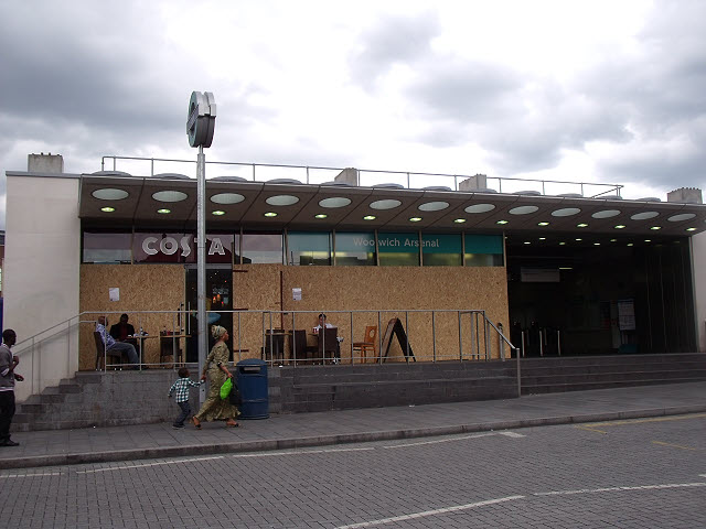 Costa Coffee by Woolwich DLR station