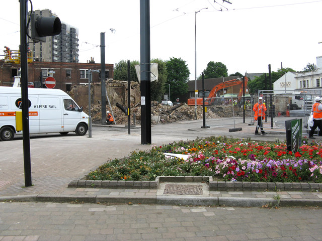 Croydon:  Remains of Reeves' Furniture Store