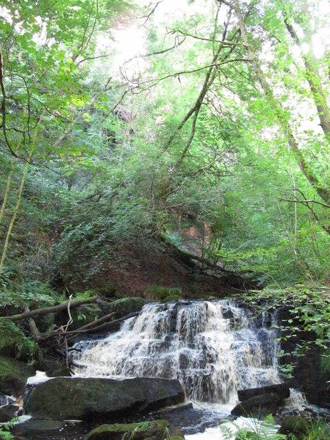 Waterfall on West Dipton Burn