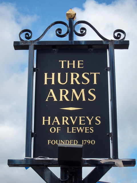The Hurst Arms sign