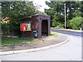 TM4575 : Highfields Postbox & Bus Shelter by Adrian Cable