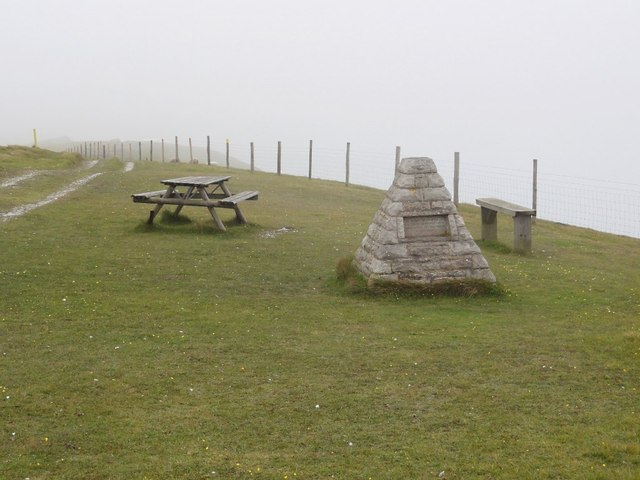 Monument and Picnic Table on Bindon Hill