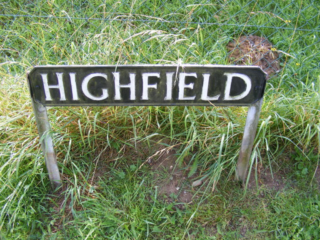 Highfield sign