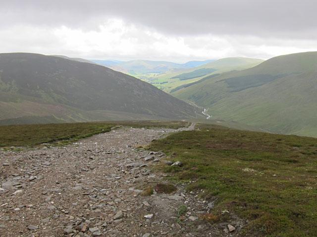 Down the track into Glen Lochsie