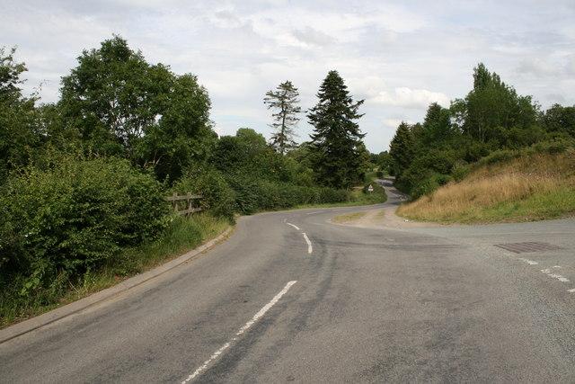 The B4368 near Newcastle