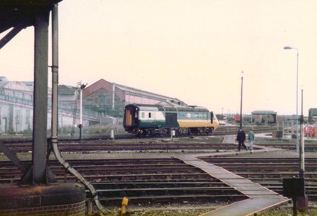 HST Power Car, Derby, 1981