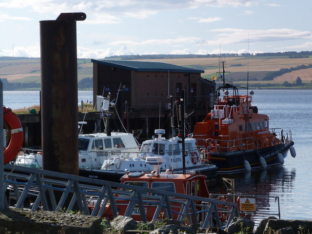 Pilot boats and lifeboat  Invergordon harbour