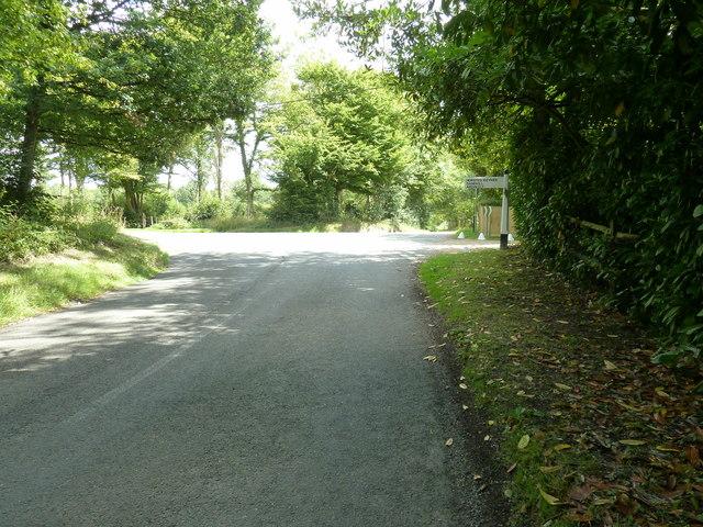 Park Lane junction with Plummerden Lane