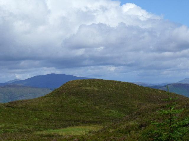 Knoll on ridge north-east of Stob a' Choin Duibh near Aberfoyle