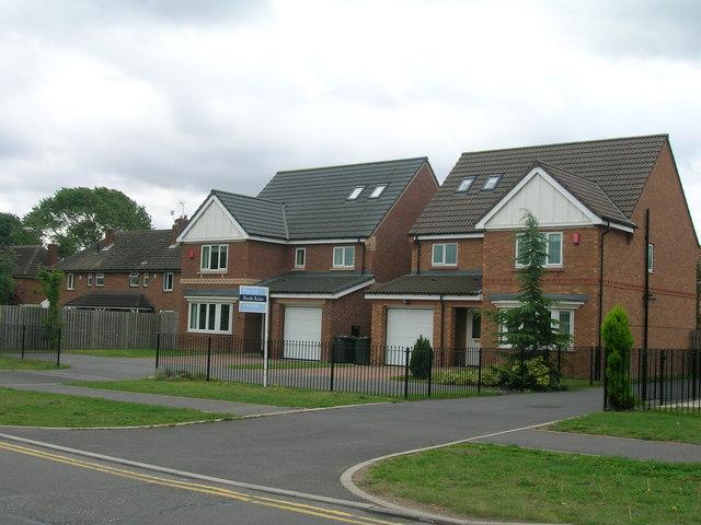 New build housing, Hayfield Green