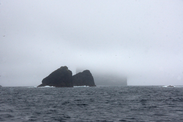 Small stacks between Stac an Armin and Boreray, St Kilda