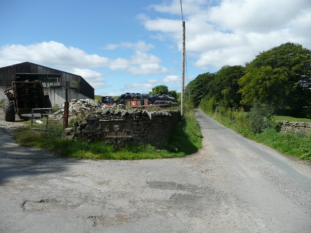 Storth Gill Lane at Rome farm, Giggleswick