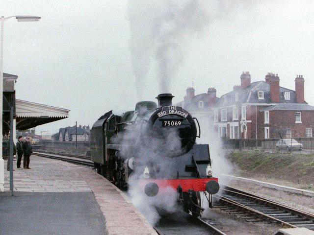 Steam Locomotive at Hereford, 1985
