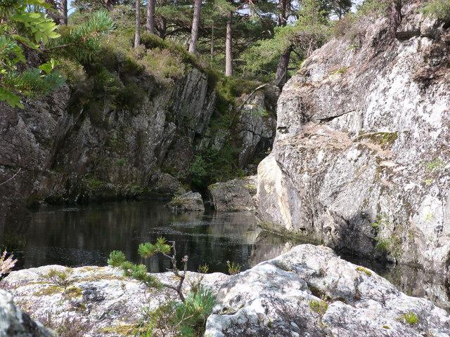 Rocky pool on the River Farrar