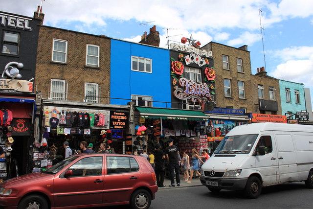 Tattoo shops in Camden High Street