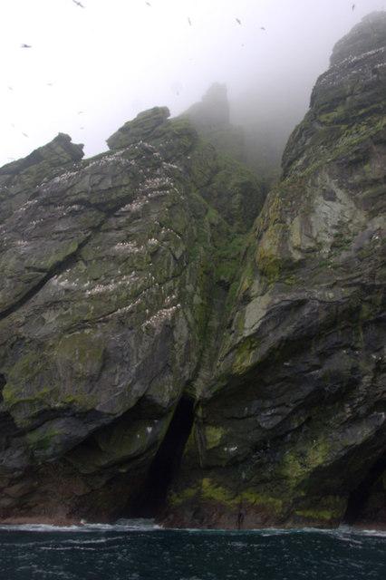 Cleft on the north-east coast of Boreray, St Kilda