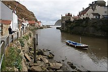 NZ7818 : Staithes Beck, Staithes by Dave Hitchborne