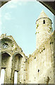 S0740 : Cashel Round Tower from inside the ruins by Stuart Logan