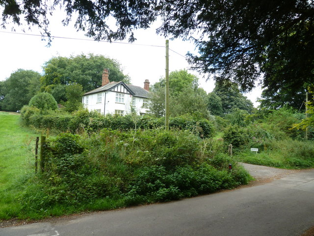 St Martin, Ellisfield: looking across to the rectory