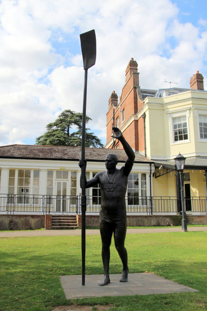 Statue of Sir Steve Redgrave CBE, Marlow, Buckinghamshire