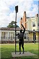 SU8486 : Statue of Sir Steve Redgrave CBE, Marlow, Buckinghamshire by Christine Matthews