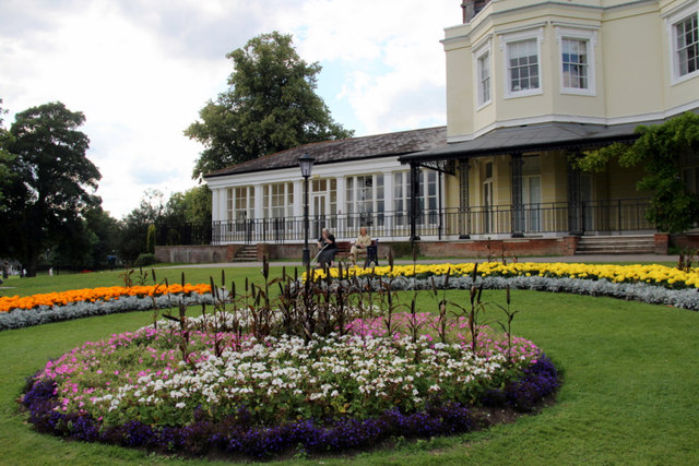Flowerbed, Higginson Park, Marlow, Buckinghamshire