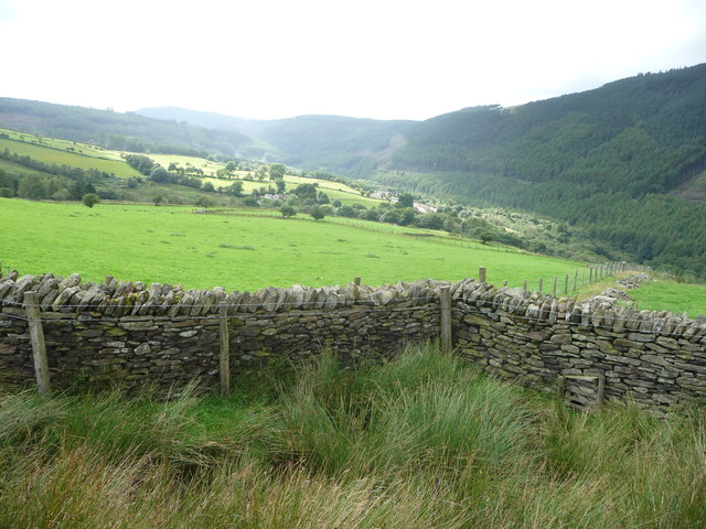 Dry stone walls above the Afan Valley