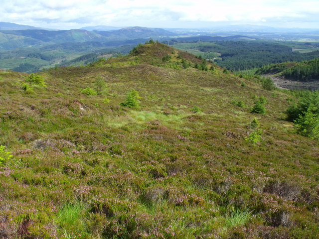Looking down the line of path on ridge north of Beinn Bhreac near Aberfoyle