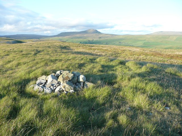 The summit cairn above Moughton Scar, Austwick