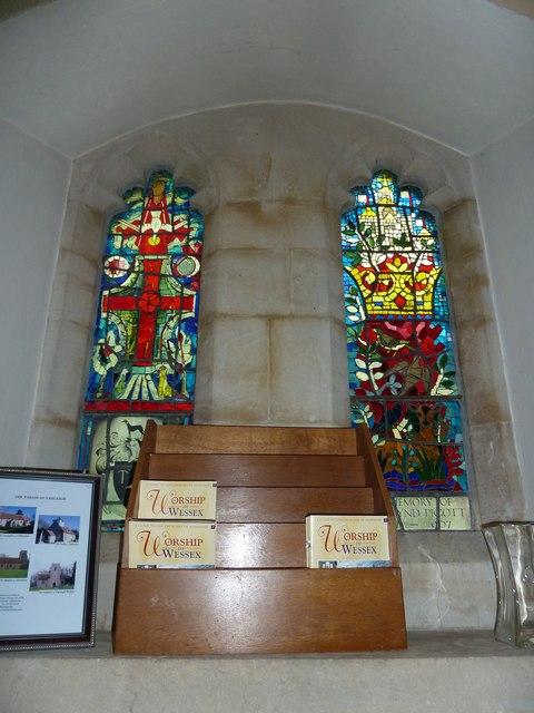 St Martin, Ellisfield: stained glass window (1)