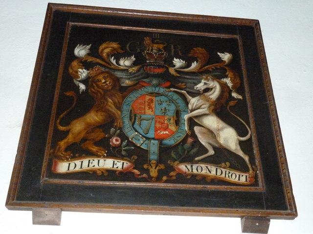 St Martin, Ellisfield: coat of arms