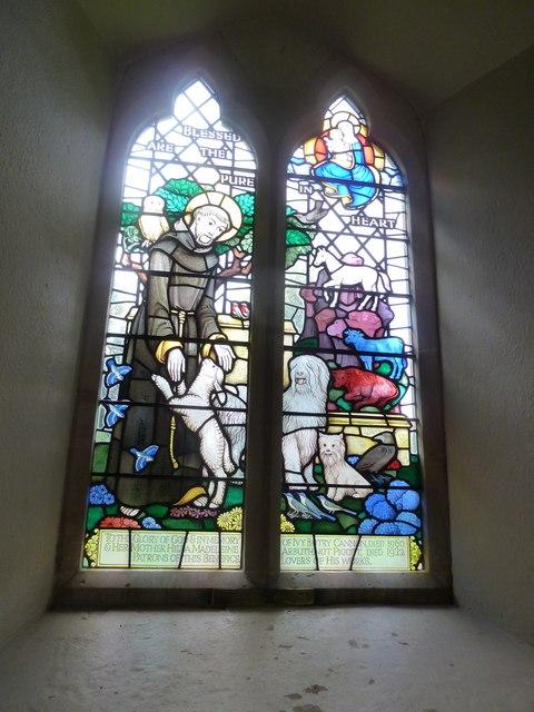 St Martin, Ellisfield: stained glass window (2)