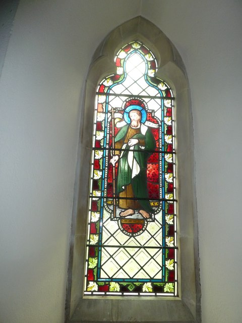 St Martin, Ellisfield: stained glass window (4)