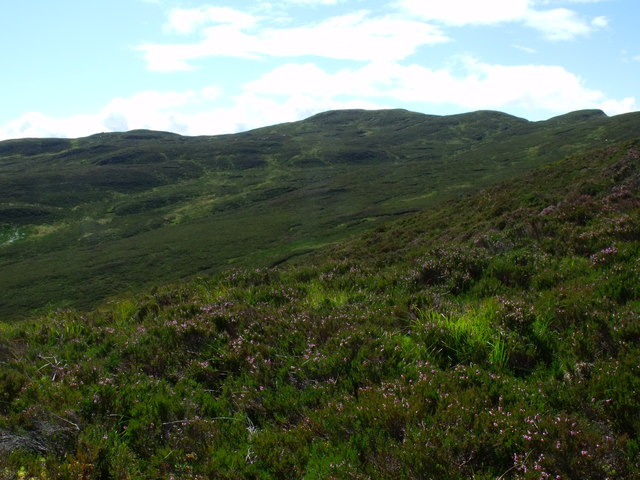 View south from ridge carrying the High Road to Drymen