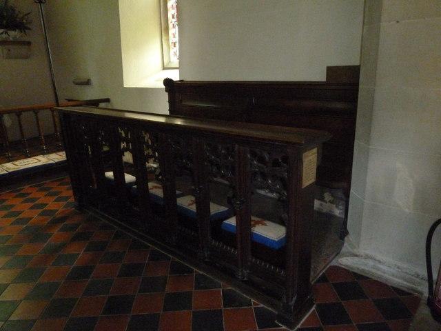 St Martin, Ellisfield: choir stalls