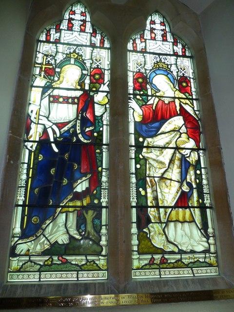 St Martin, Ellisfield: stained glass window (6)