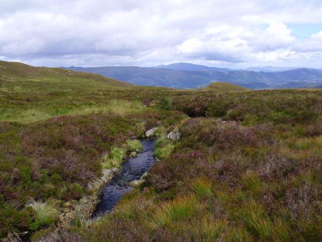 Burn course north of Beinn Bhreac near Aberfoyle