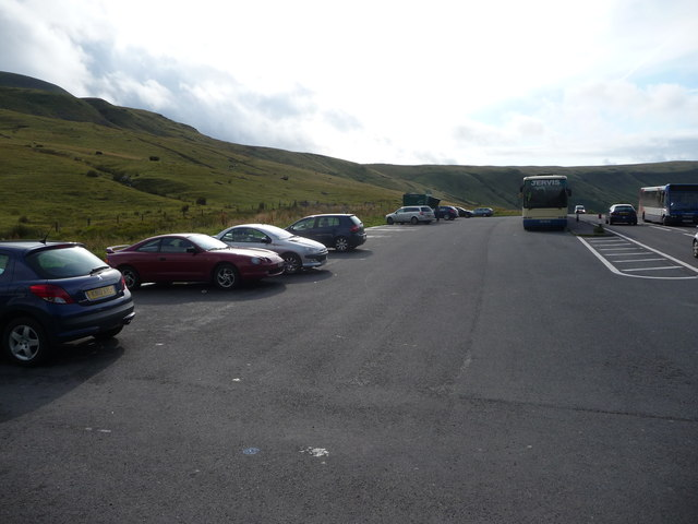 The car park opposite the Storey Arms Centre
