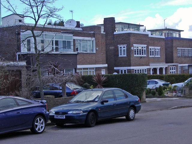 Modernist houses on Ashley Lane