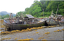 NM5643 : Boats at the old pier, Salen (2) by Andrew Hackney