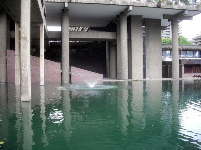 Fountain in Barbican Centre London