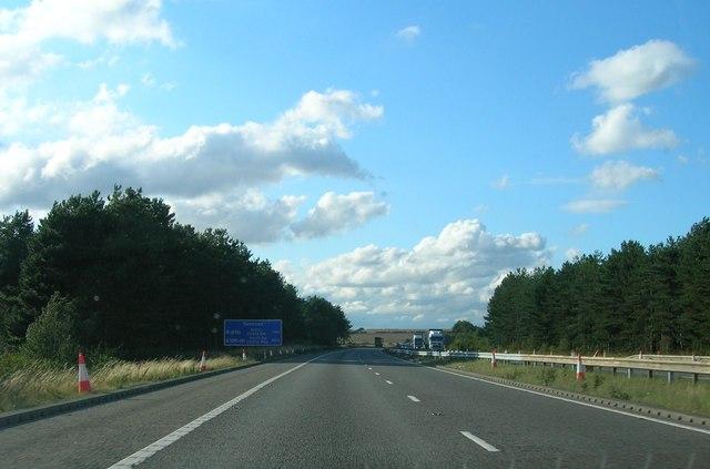 A1 (M) heading north